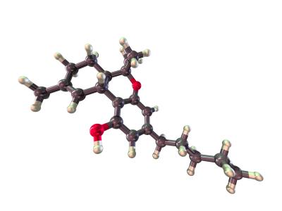 THC molecular model